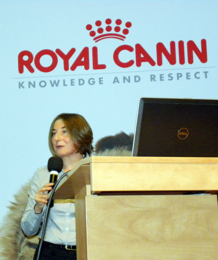 Mrs Sarah Rivière, the Manager of Royal Canin's Marketing International.